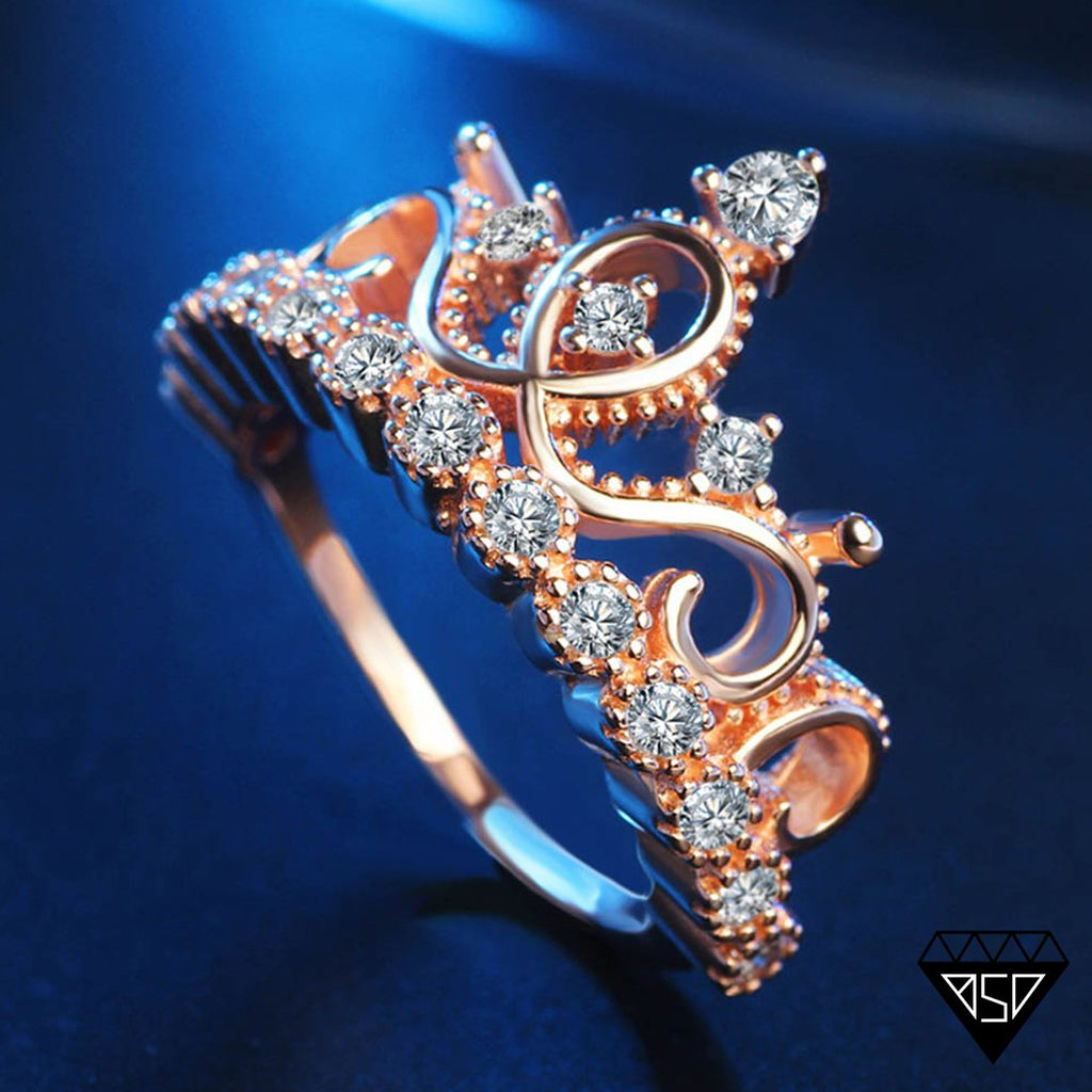 Princess Tiara Rose-Gold Ring