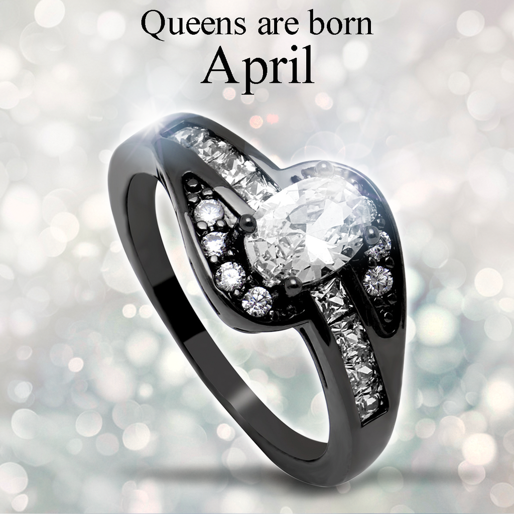 April Birthstone Halo Ring