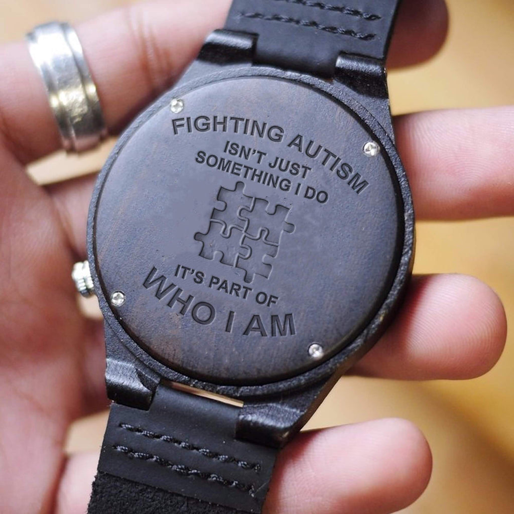 Fighting Autism - Part Of Me - Wood Watch