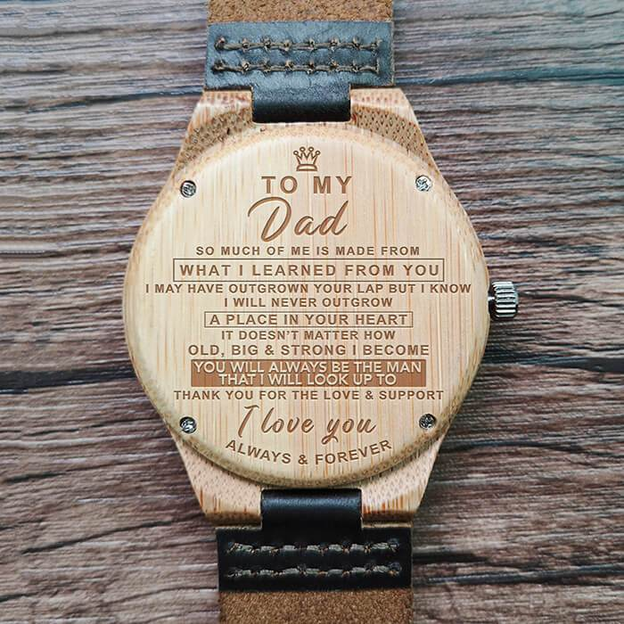 To Dad - Always & Forever - Hand-Crafted Wood Watch