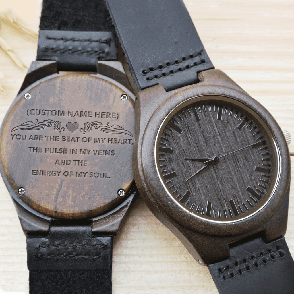 You Are The Beat Of My Heart - Wood Watch