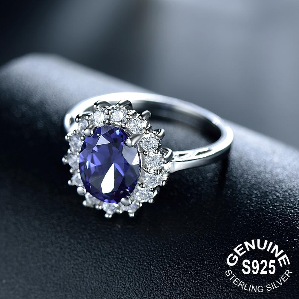 Princess Diana inspired 2.0ct Tanzanite S925 Ring (December)