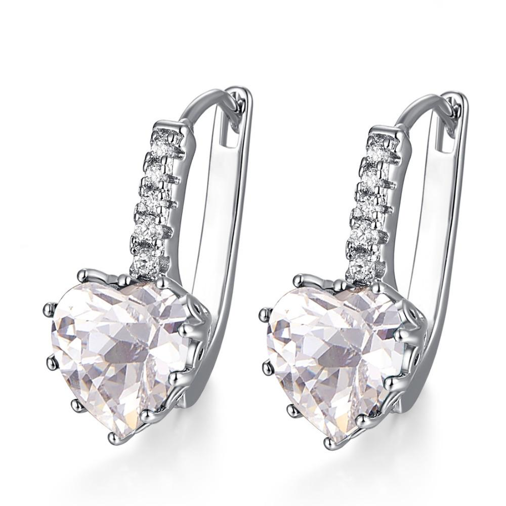Heart of April Diamond Earrings