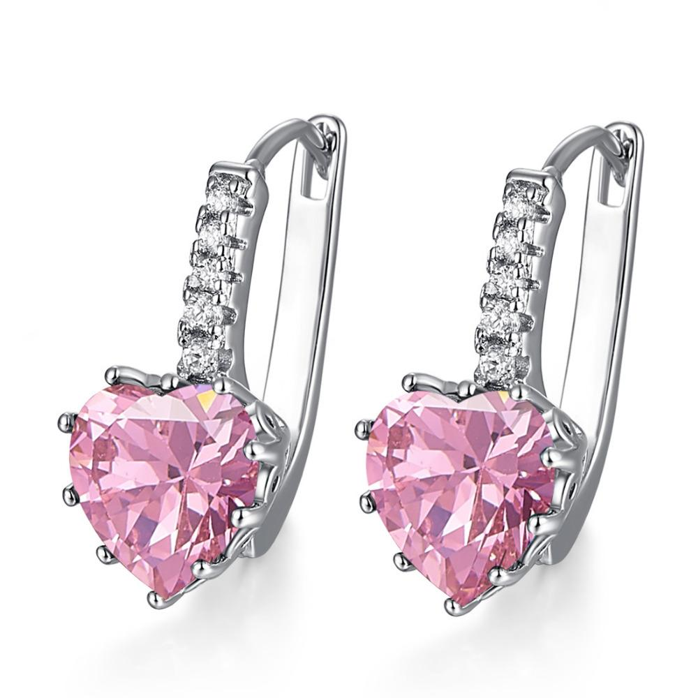 Heart of October Pink Tourmaline Earrings
