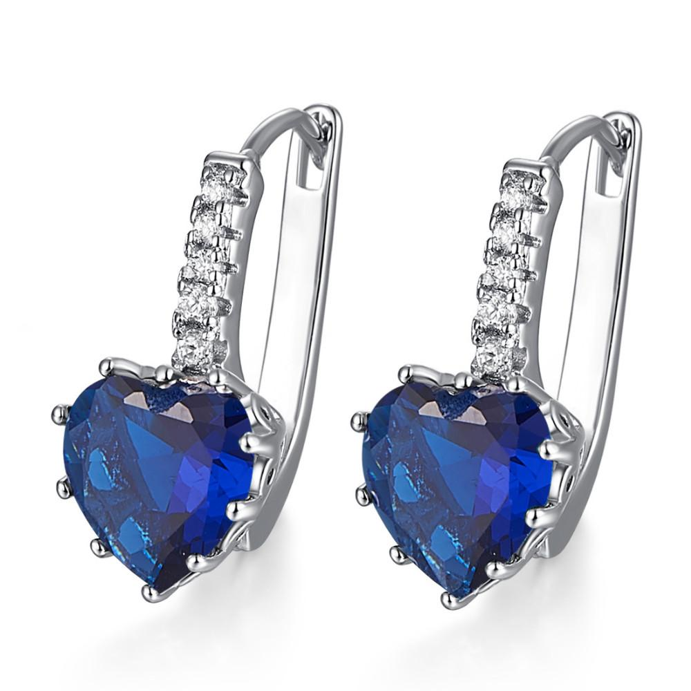 Heart of September Sapphire Earrings