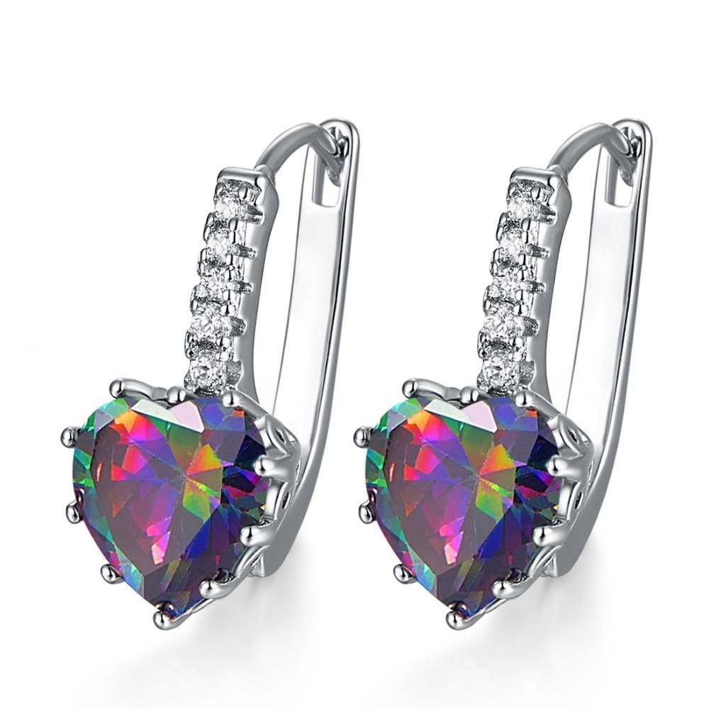 Heart of October Opal Earrings