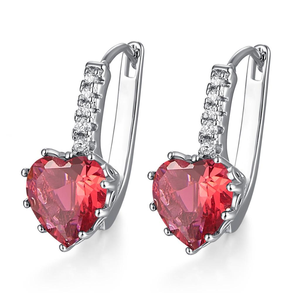 Heart of July Ruby Earrings