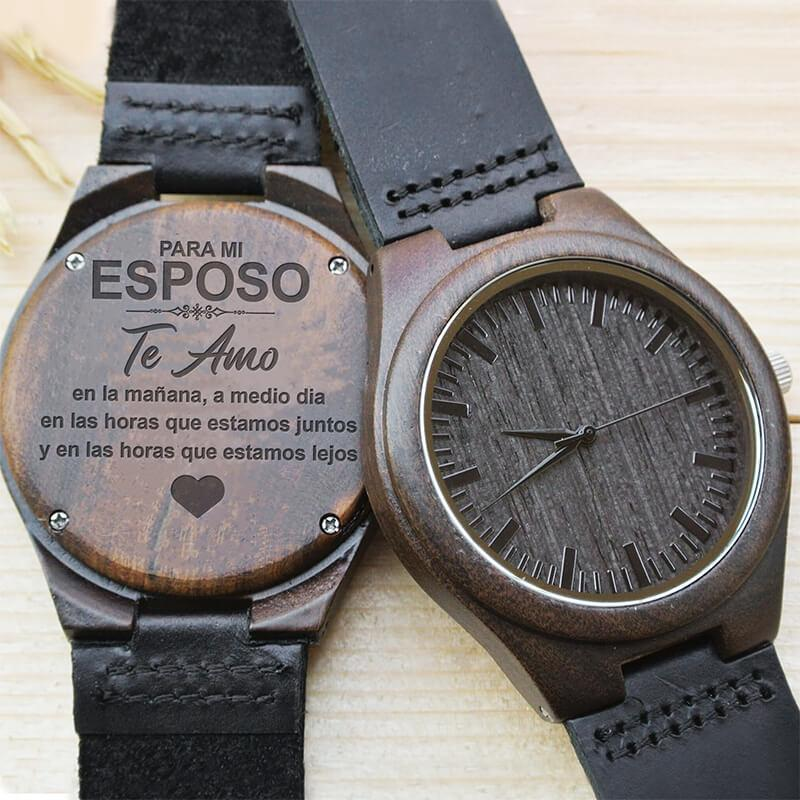 Te Amo - Mi Esposo - Wood Watch