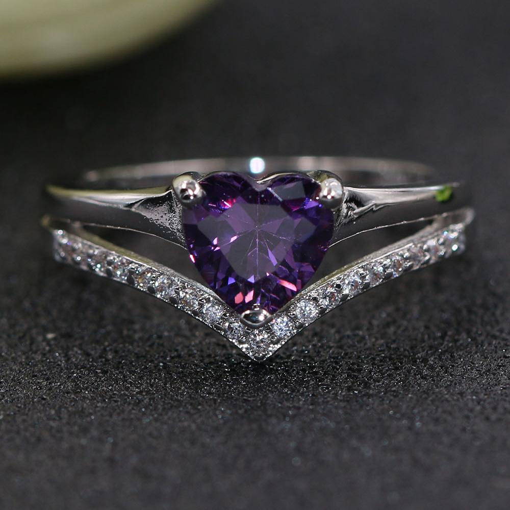 Alexandrite Heart June Birthstone Ring