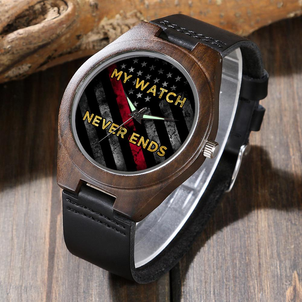 Retired Firefighter's - Wood Watch