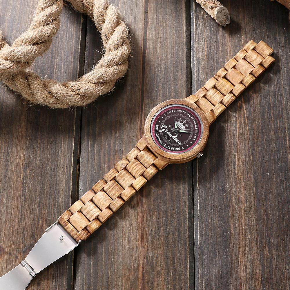 Proud Grandma - Lovely Wood Watch