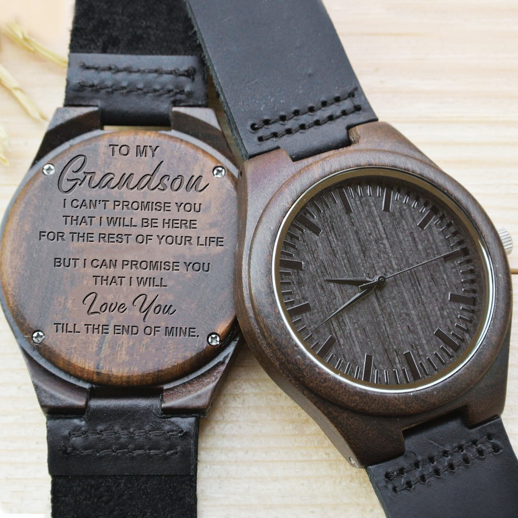 To My Grandson - I Promise - Wood Watch