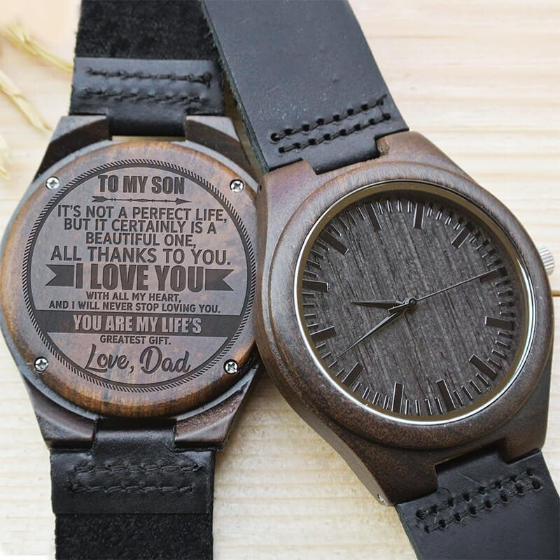 Son - Life's Greatest Gift - Love, Dad - Wood Watch