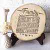 Family - Heart to Heart - Pyrograph Home/Office Decor