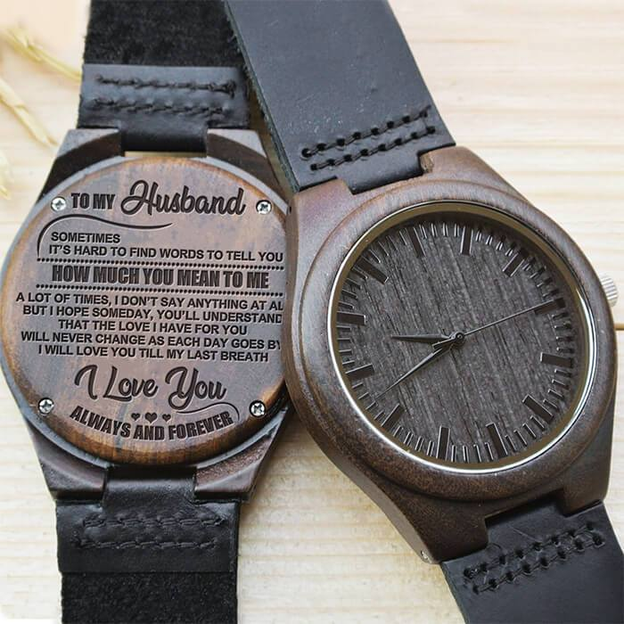I Love You Till My Last Breath - My Husband - Wood Watch