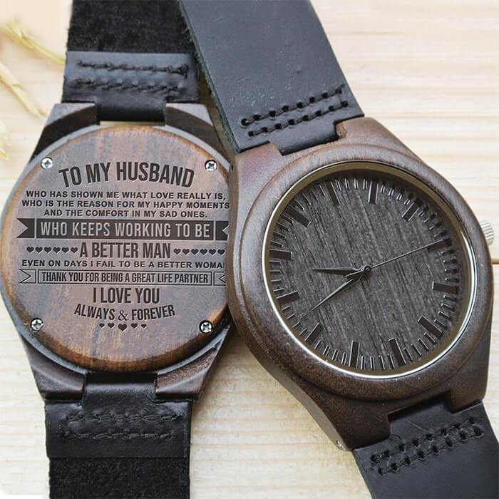 Great Life Partner - My Husband - Wood Watch