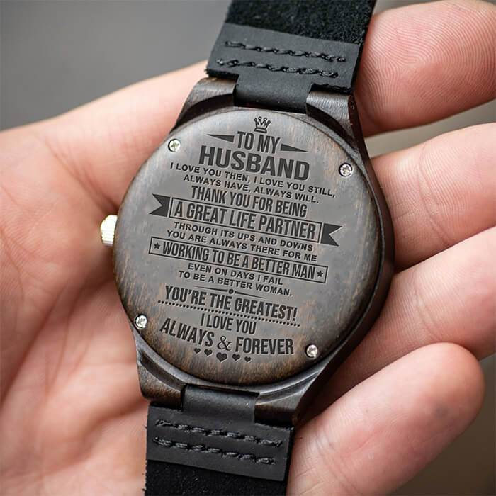 To My Husband - You're The Greatest - Wood Watch