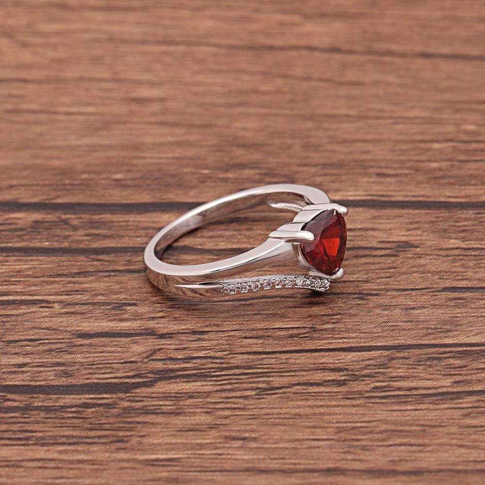 Ruby Heart July Birthstone Ring