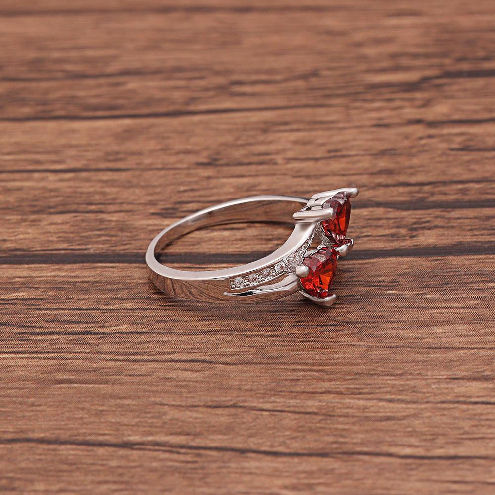 Twin-Fire Heart Ring