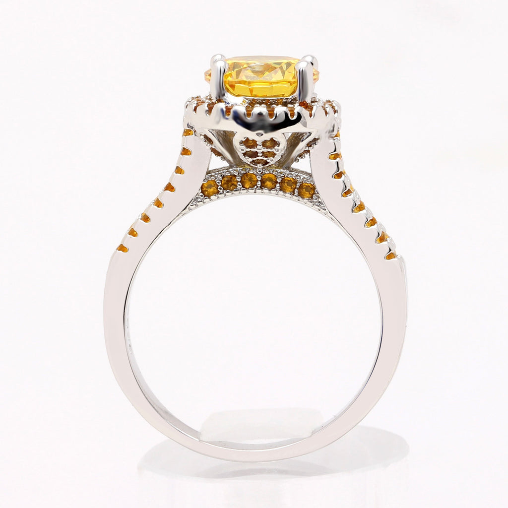 November Crown Citrine Ring