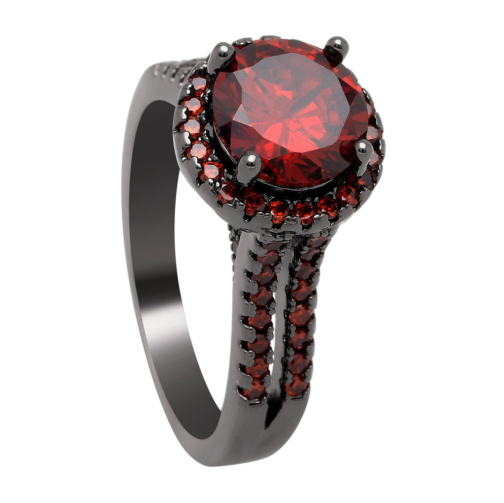 July Crown Ruby Ring