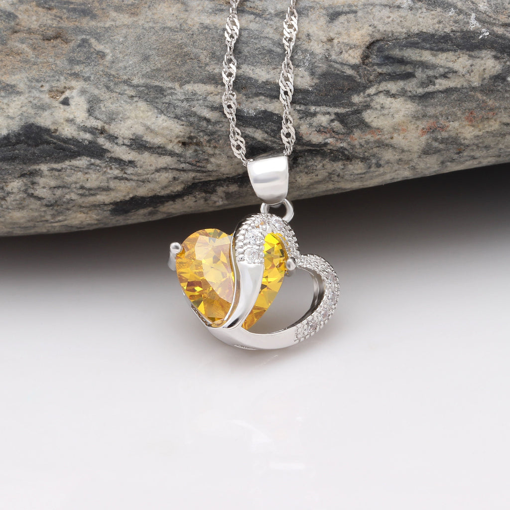 Heart of November Pendant Necklace