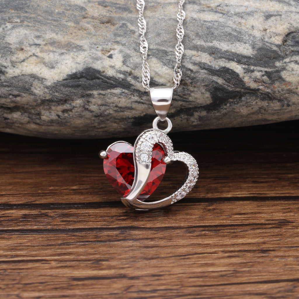 Heart of July Pendant Necklace