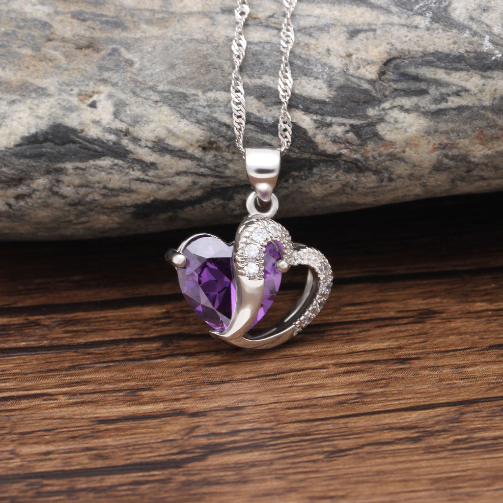 Heart of February Pendant Necklace