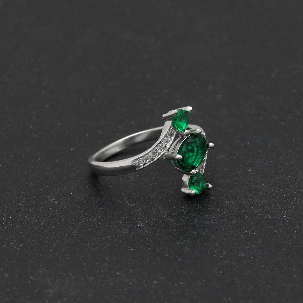 May Birthstone 1.2ct Emerald S925 Ring