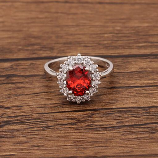 Princess Diana inspired 3.2ct Ruby S925 Ring (July)