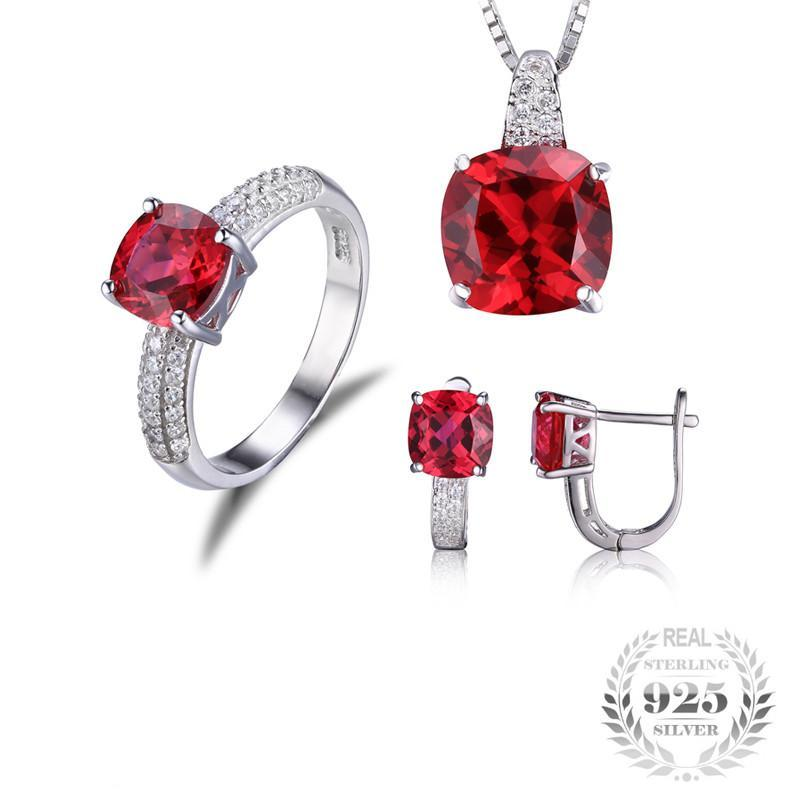Genuine July Ruby Jewelry Set (SAVE USD90)