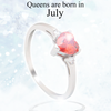 July Heart Birthstone Ring (Ruby)