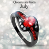 July Birthstone Halo Ring