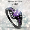 June Birthstone Halo Ring