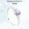 June Heart Birthstone Ring (Alexandrite)