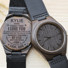 See Yourself Through My Eyes - Custom Name - Wood Watch