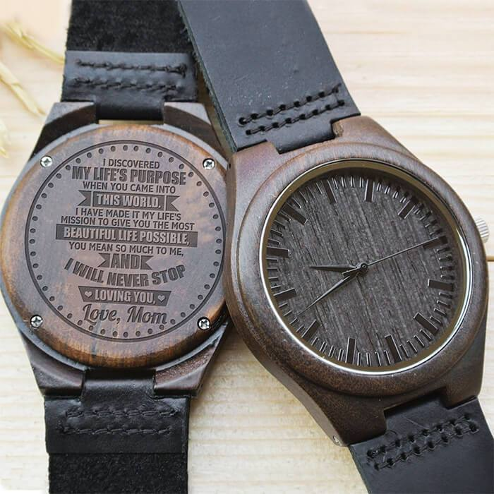 You Are My Life's Purpose - Love, Mom - Wood Watch