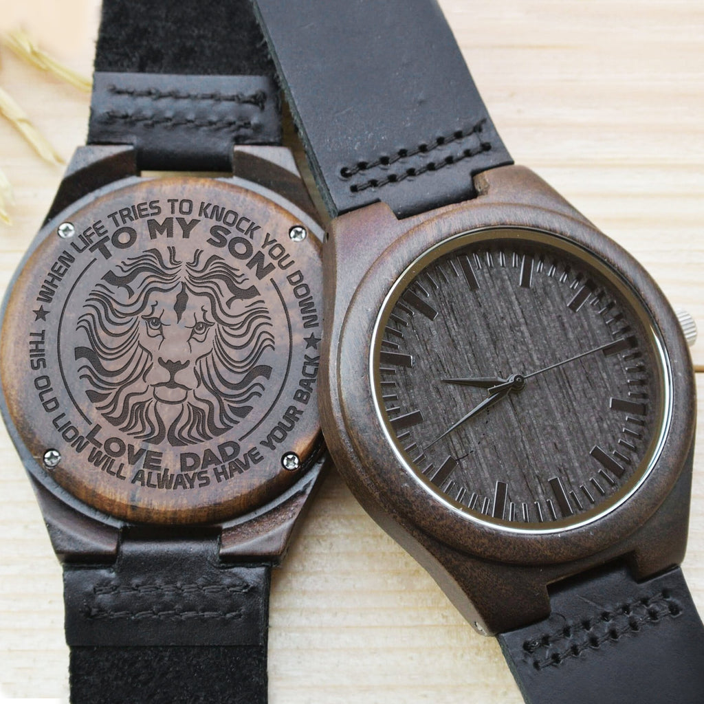 Son, Dad Will Always Have Your Back - Wood Watch