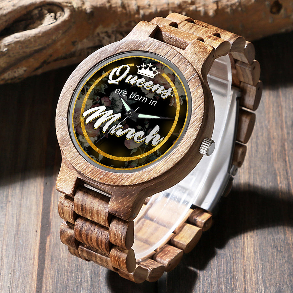 March Queen - Unique Wood Watch
