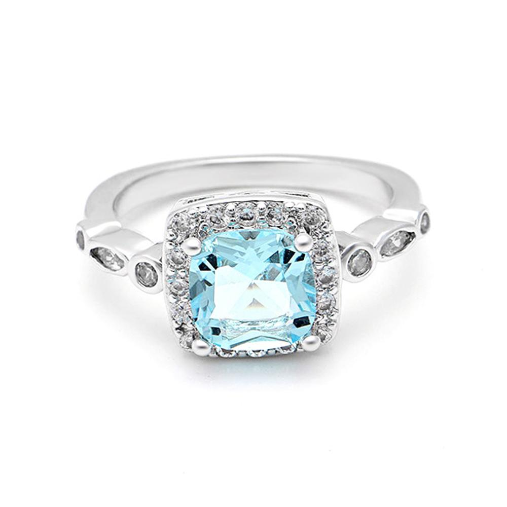 March Birthstone Aquamarine Ring (2018 Series)