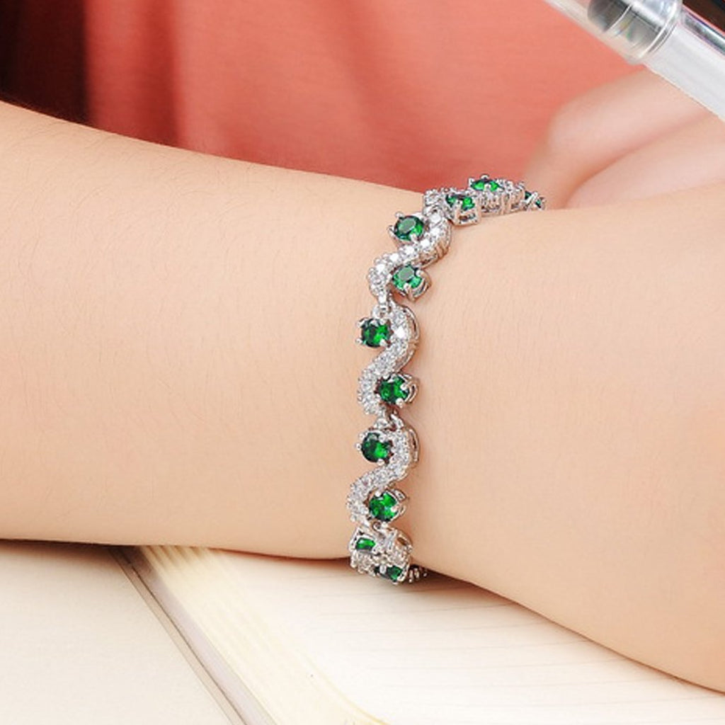 May Emerald 17cm Bracelet