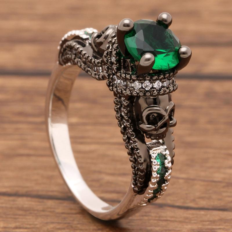 Vintage-style May Birthstone Ring