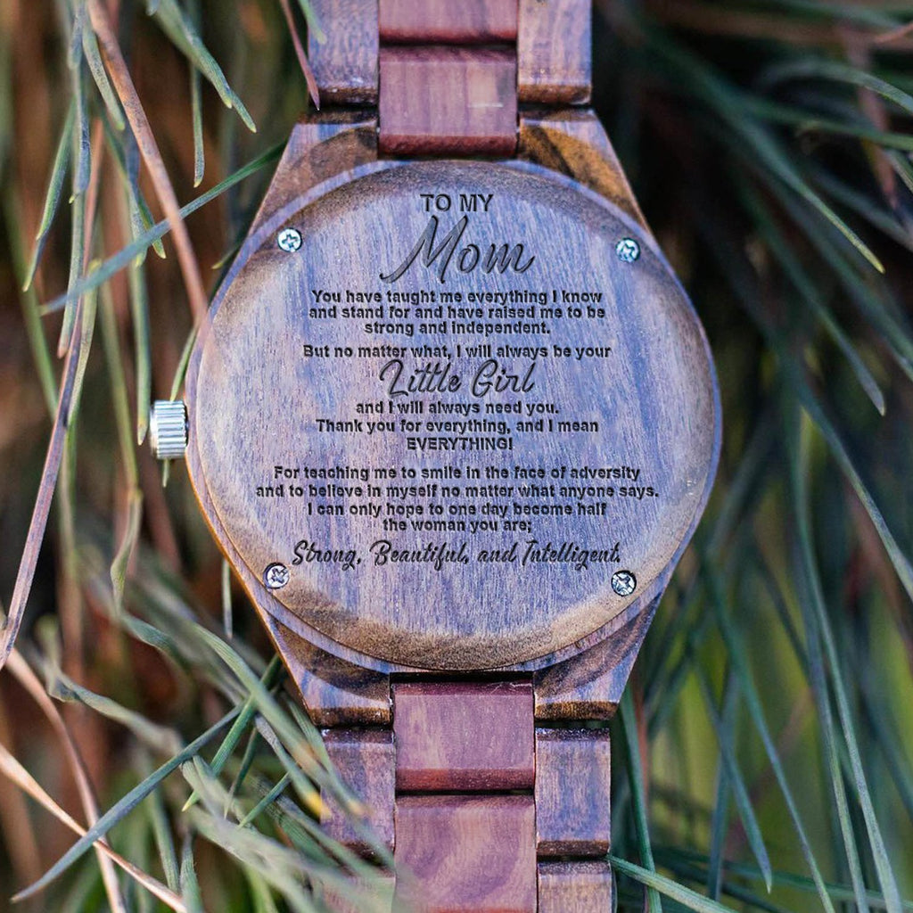 Thank You Mom - From Daughter - Wood Watch