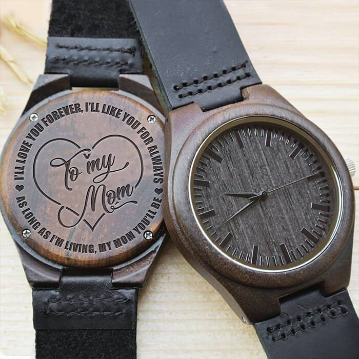 Mom - Forever & Always - Wood Watch