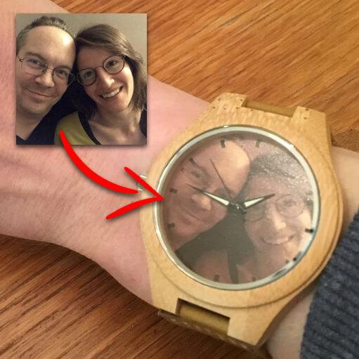 Personalized Photo Wood Watch