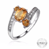 Genuine 0.9ct Natural Citrine Birthstone .925 Sterling Silver Ring (November)