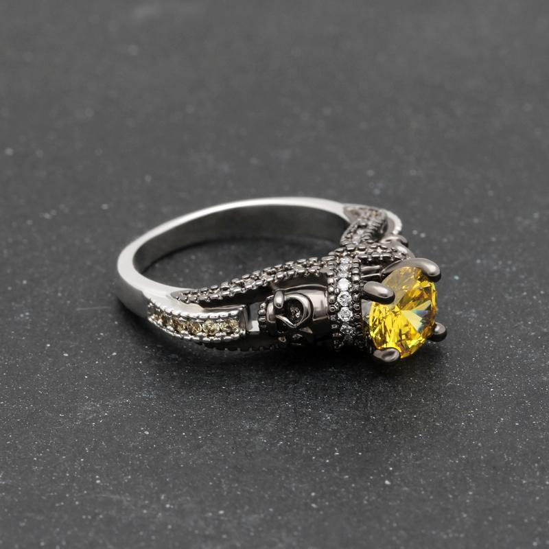 Vintage-style November Birthstone Ring