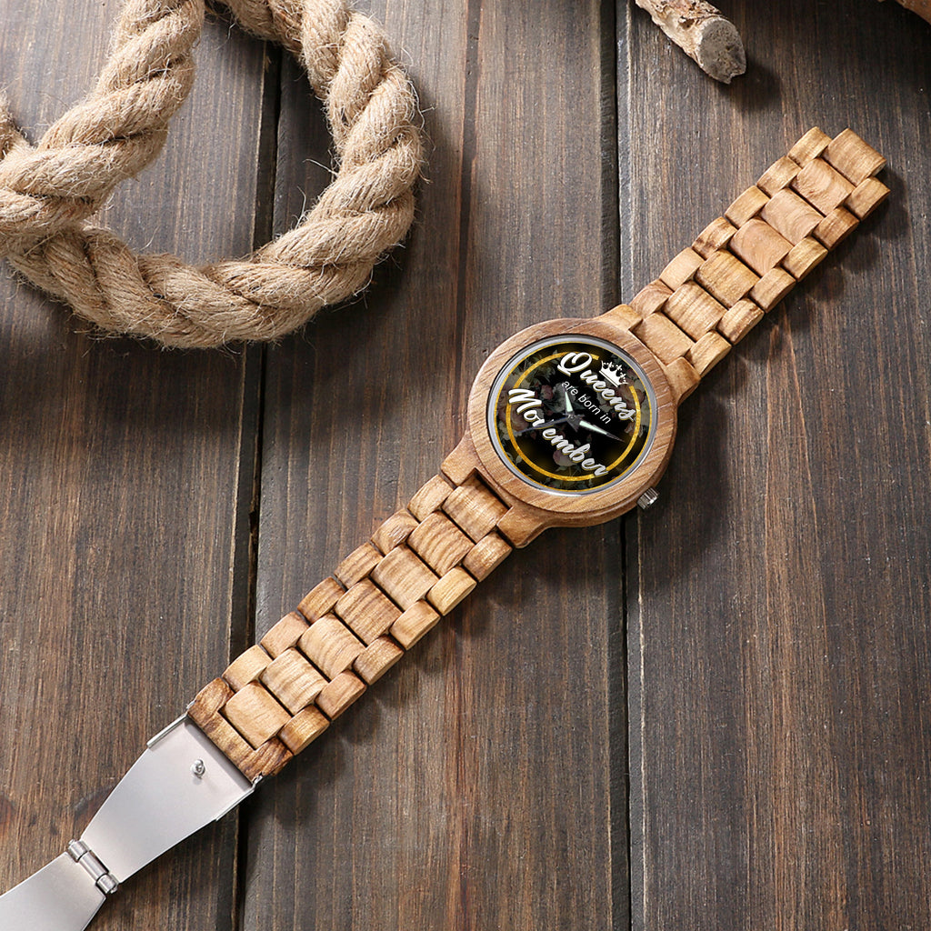 November Queen - Unique Wood Watch