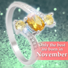 November Birthstone 1.2ct Yellow Topaz 925 Sterling Silver Ring