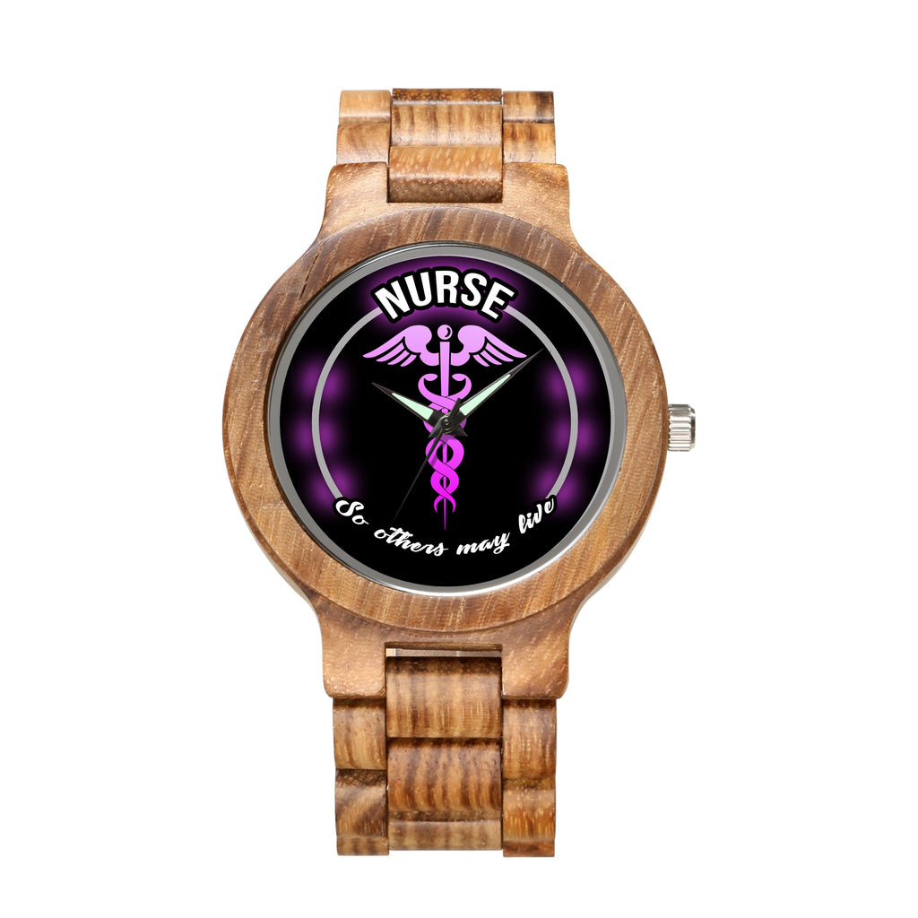 Nurse Creed - Unique Wood Watch